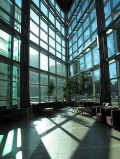 Study space in the Telus building at the University of Alberta  Edmonton Alberta Canada