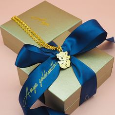 Tinkerbell Image Necklace with Cream Bow Gift Disney Fairies Fairy Pixie Elf