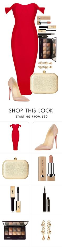 """Untitled #1484"" by fabianarveloc on Polyvore featuring Christian Louboutin, Jessica McClintock, Marc Jacobs, Yves Saint Laurent, Lancôme, By Terry and Ben-Amun"