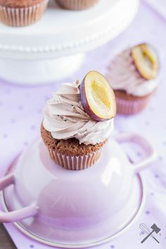 Zwetschgen Schoko Cupcakes