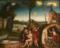 Cranach Lucas - Law and gospel