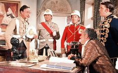 Charles Hawtrey, Terry Scott, Roy Castle, Julian Holloway and Sid James in Carry On Up The Khyber.