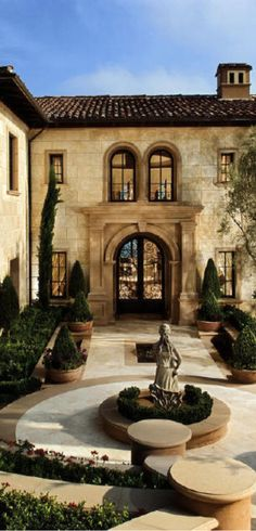 Old world mediterranean italian tuscan homes decor for Old world house plans courtyard