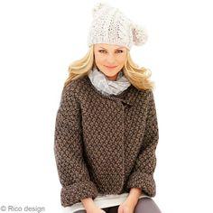 veste en grosse laine tuto | Tuto tricot : veste courte en laine - Idées et conseils Crochet et ...