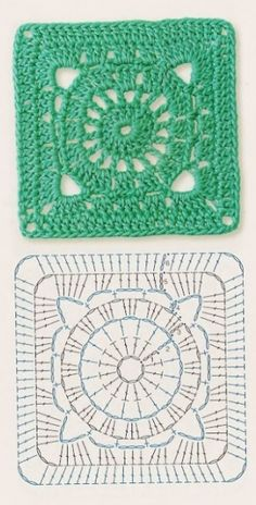 Transcendent Crochet a Solid Granny Square Ideas. Inconceivable Crochet a Solid Granny Square Ideas. Motifs Granny Square, Crochet Motifs, Crochet Blocks, Granny Square Crochet Pattern, Crochet Diagram, Crochet Chart, Crochet Squares, Crochet Stitches, Crochet Patterns