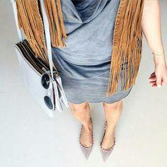 Zara fringe,Celine bag,Valentino shoes