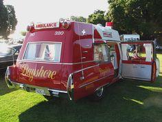 classic Cadillac era ambulances health care
