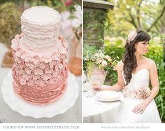 Blush Pink Ruffled Cake