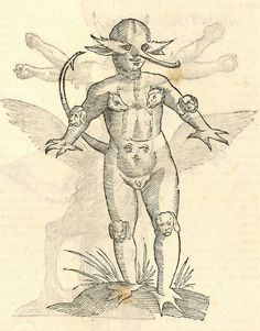 We admit, we felt a little weird inside when we stumbled across these surreal woodcut illustrations from Aldrovandi's 1642 'Monstorum Historia' over at BibliOdyssey. Humanoid Creatures, Weird Creatures, Mythical Creatures, Scratchboard, Cryptozoology, Medieval Art, Dark Ages, Illustrations, Gravure