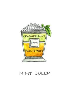 Mint Julep Cocktail Print
