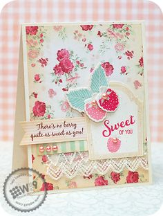 Lea Lawson for Wplus9 featuring Fresh Picked stamp set and dies, and Label Layers 5 die.