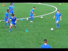When you participate in soccer training, you will find that you are introduced to many different types of methods of play. One of the most important aspects of your soccer training regime is learning the basics of kicking the soccer b Soccer Warm Up Drills, Soccer Passing Drills, Soccer Warm Ups, Soccer Training Drills, Soccer Workouts, Football Drills, Soccer Practice, Soccer Skills, Soccer Coaching