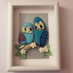 Painted rocks, cute owls !