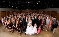 Group picture at our wedding reception!! love this!