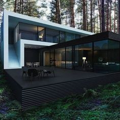 The luxurious Kiedy House  What do you think of this modern black and white design? Would you live here?  By M2 Architecture | #mrgoodlife  .  #modern #architecture #minimalist #contemporary #mansion #house #luxury