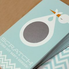 Stork Gender Reveal Scratch Cards-cute for long distance relatives so they can be surprised too!