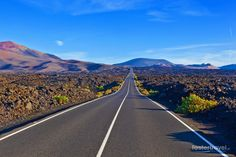 I love this road as you enter / leave Timanfaya National Park on Lanzarote Run And Ride, Adventures Abroad, Spain And Portugal, Canario, Island Beach, Canary Islands, Travel Memories, Ultimate Travel, Natural Wonders