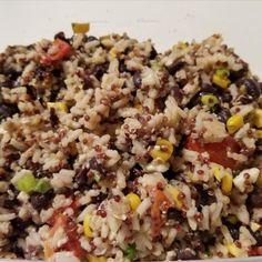 Quarantine Cooking Quinoa and Black Beans Recipes Black Bean Recipes, Beans Recipes, Shrimp Recipes Easy, Canned Black Beans, Frozen Corn, Garlic Shrimp, Saute Onions, Coriander Seeds, How To Cook Quinoa