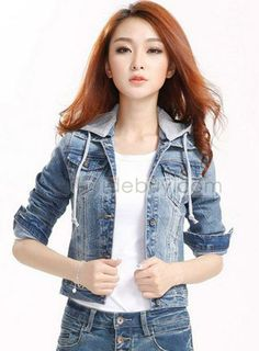 Top Quality Slim Long Sleeve Denim Jacket Outwear : Tidebuy.com