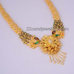 22 carat gold antique designer short necklace