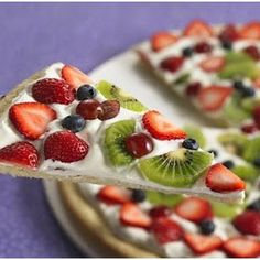 Mixed-Fruit Tart with Coconut Crust (betty crocker) @keyingredient #cheese