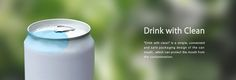 Drink with Clean on Packaging of the World - Creative Package Design Gallery