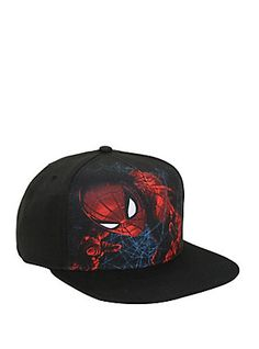 various colors 1de19 b8a5f Marvel Spider-Man  Homecoming Sublimated Crown Snapback Hat, Geek Fashion,  Snapback Hats