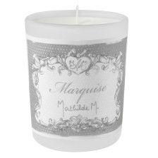Mathilde M - Bougie verre givré, parfum Marquise