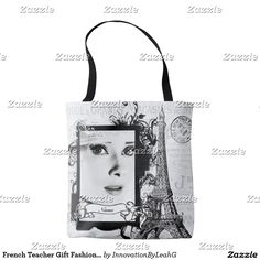 French Teacher Gift Fashionable Personalized Tote Bag