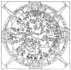 Dendera Zodiac black and white. Fibonacci and Sacred Geometry - The Eternal Circle Sacred Geometry Meanings, Star Poetry, Cosmos, Precession Of The Equinoxes, Ancient Astronomy, Poetry Foundation, Masonic Symbols, Sacred Symbols, Capricorn And Aquarius