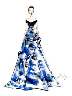 Karlie Kloss Courtesy of Laura Kay. Sport Fashion, Fashion Show, Fashion Outfits, Fashion Design, Fashion Art, Taylor Swift, Modern Painting, Illustration Sketches, Fashion Illustrations