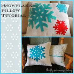 Thrifty Parsonage Living: SNOWFLAKE PILLOWS (tutorial)
