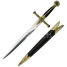 Black Masonic Short Dagger - MC-HK-023BK by Medieval Collectables
