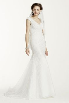 Lace Jewel Off The Shoulder Ruched Wedding Dress
