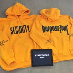 New 2016 Justin Bieber Purpose The World Tour Hoodie Sweatshirt Yellow Unisex | Clothing, Shoes & Accessories, Men's Clothing, Sweats & Hoodies | eBay!