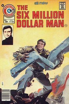 THE SIX MILLION DOLLAR MAN cover by joe staton