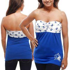 Duke Blue Devils Women's Flirty Repeat Tube Top - Duke Blue/White - $27.99