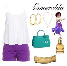 """Esmeralda"" by zpdumasia on Polyvore featuring Michael Kors, Kenneth Cole, J.Crew, New Look, Kate Spade, Cole Haan and Bottega Veneta"