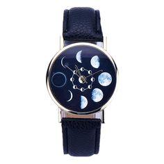 DDLBiz® Donne Eclipse modello Leather analogici al quarzo Orologi da polso (marrone): Amazon.it: Sport e tempo libero