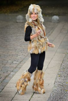 Fur Fashion Authentic Red Fox Fur pieces - ranch raised, incredibly popular fur