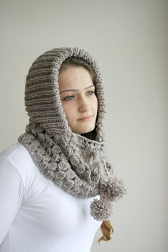 free-shipping-milky-brown-wool-hooded
