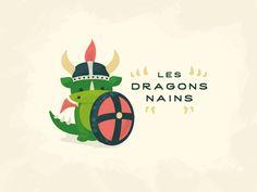 Dwarf Dragons - Les Dragons Nains Illustration by Christelle Mozzati