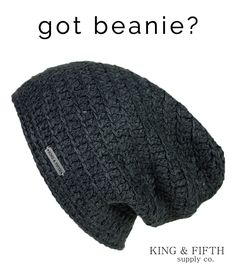 If not, its time to find your new go-to! http://www.kingandfifth.com/collections/mens-slouchy-beanies/products/mens-the-beeskie-charcoal-heather