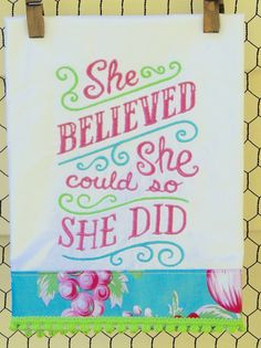 She Believed She Could So She Did by seechriscreate on Etsy
