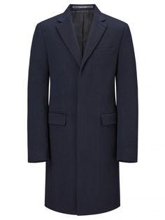 Pure Cashmere Navy Retro Coat