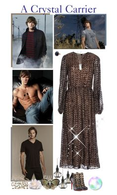 """""""15. A Crystal Carrier - Blue Crystal (Jared Padalecki)"""" by fashionqueen76 ❤ liked on Polyvore featuring мода, Michael Kors и Christian Louboutin"""