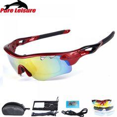 3fdac71904 PureLeisure 1Set 5 Lens Fishing Glasses lunette polarisantes peche Outdoor  Sport Eyewear UV400 Fishing Polarized Sunglasses