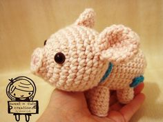 Pig Sweet N' Cute Creations' Amigurumis Pattern available on Ravelry for $2 http://www.ravelry.com/patterns/library/amigurumi-porkie-the-piggy
