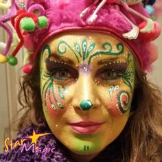 starmagic # Make-up # Make-up Blumen - Famous Last Words Canvas Painting Tutorials, Face Painting Designs, Monogram Painting, Star Wars, Halloween Images, Facial, Painting For Kids, Face Art, Makeup Inspiration