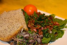 The Vegetarian Palette: Lunch ~ Wheat Berry & Calypso Bean Salad